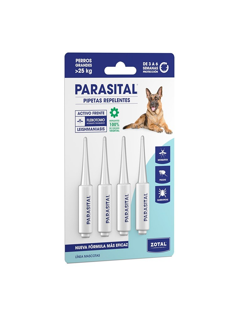 ZOTAL PARASITAL PIPETA PERROS GRANDES 4X125ML