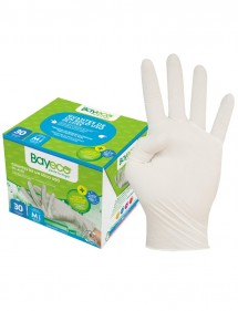 BAYECO GUANTE DE LATEX TALLA MED. PACK 30 UDS.