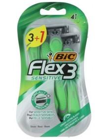 BIC MAQUINILLA DESECHABLE SENSITIVE FLEX-3 3+1 UDS