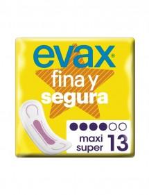 EVAX FINA Y SEGURA COMPRESA MAXI SIN ALAS 13 UDS