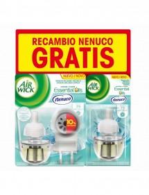 AIR WICK AMBIENTADOR ELEC. APARATO NENUCO + 2 RECAMBIOS