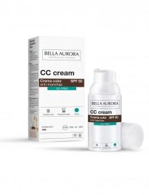 BELLA AURORA CREMA COLOR OIL FREE SPF50 30ML