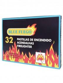 BLUE FUEGO 32 PASTILLAS ENCENDIDO BLANCAS