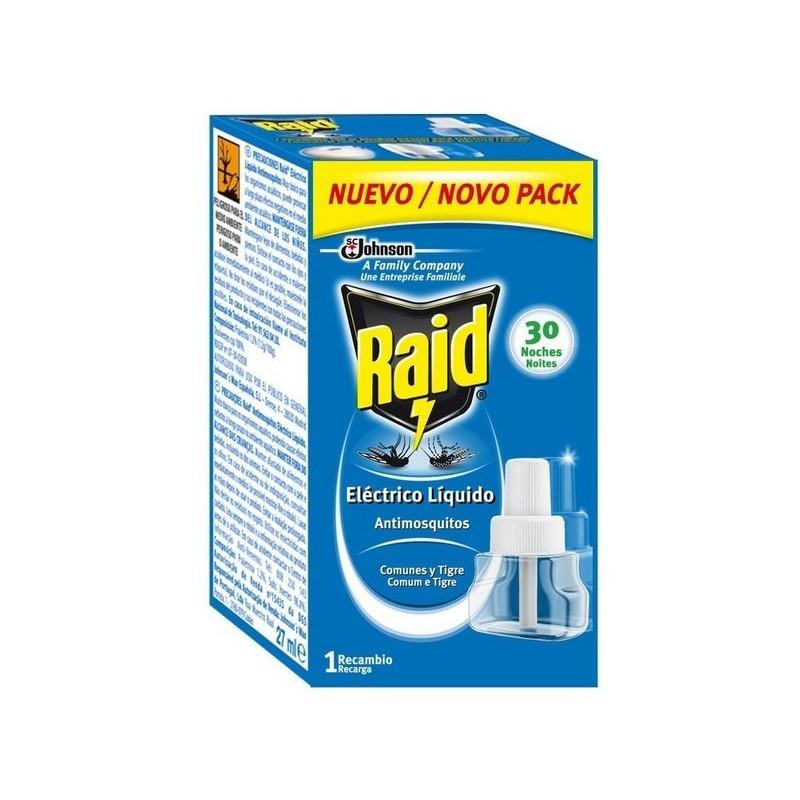 RAID RECAMBIO LIQUIDO 30 NOCHES 31ML X1