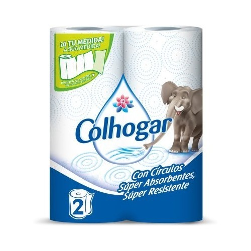 COLHOGAR PAPEL DE COCINA BLANCO PACK-2