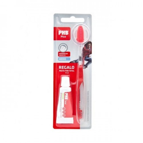 PHB CEPILLO DENTAL PLUS MEDIO + PASTA 15ML